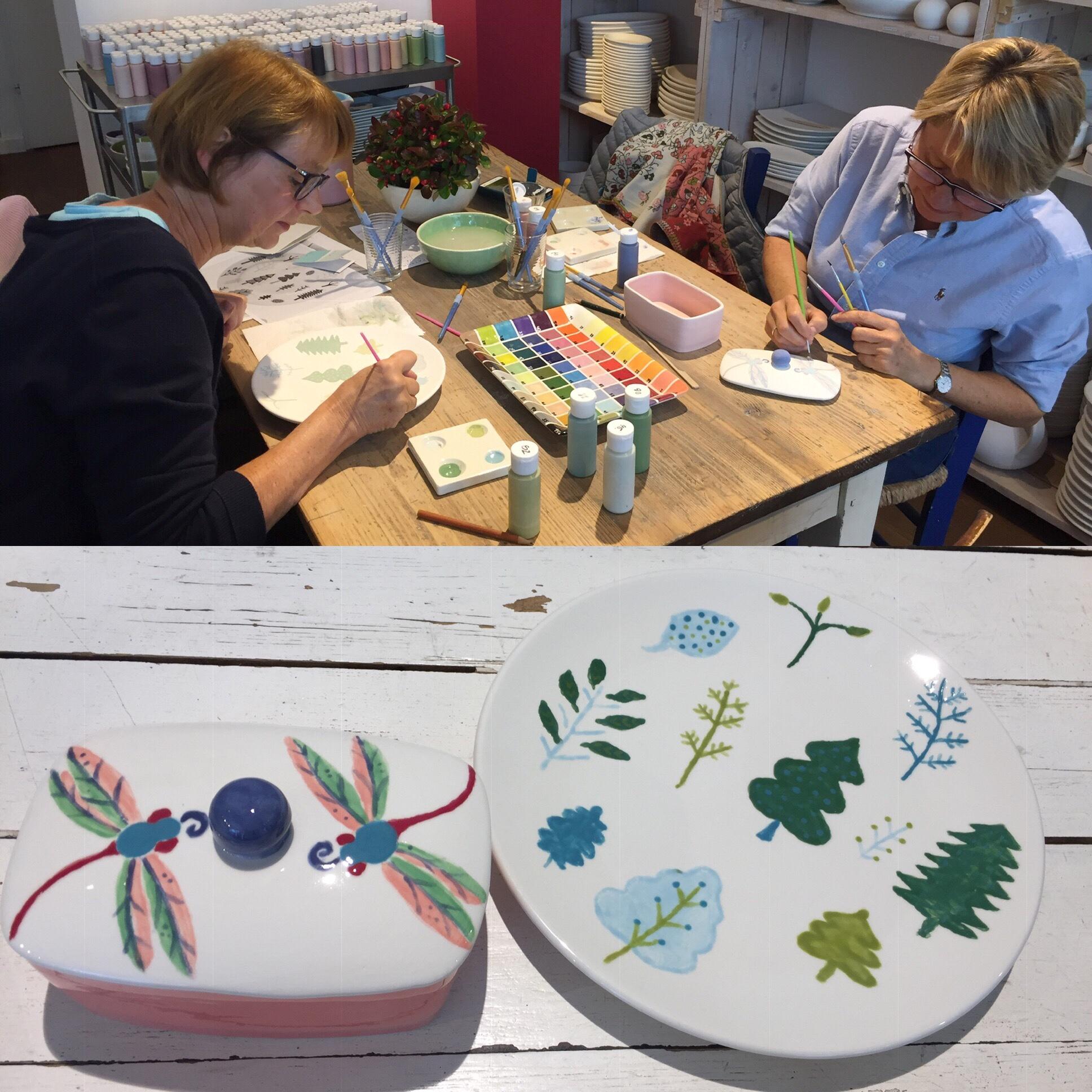 Ein kreativer Sonntagmittag – oder – Keramik bemalen für Zwei