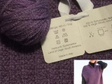 Lilamalerie strickt mal lila – oder – Pullunder in the making