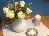 Friday-Flowerday – oder – Winterliches Weiß undRosa