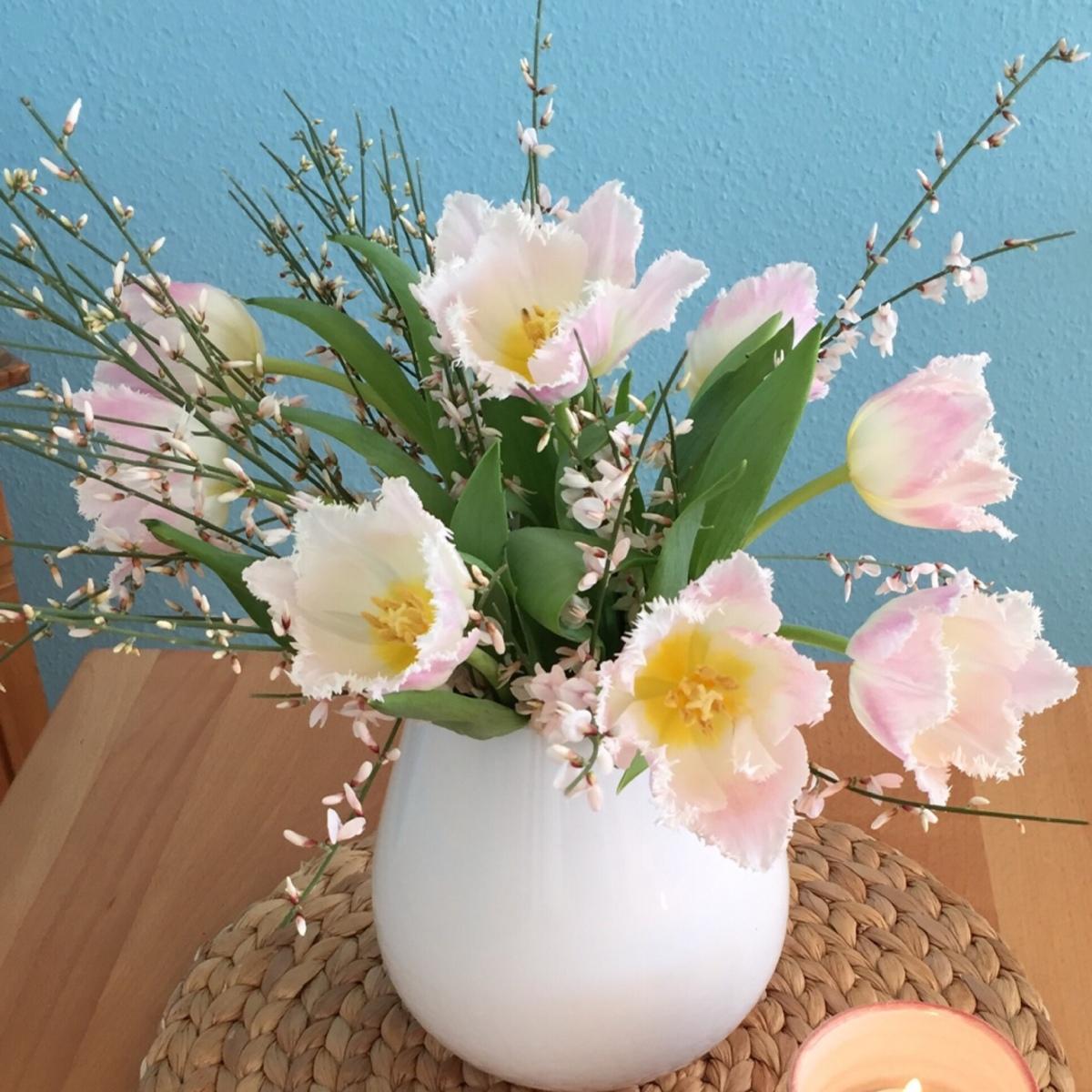 Friday-Flowerday - oder - Jetzt seh ich rosaweiß