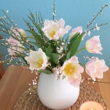 Friday-Flowerday – oder – Jetzt seh ichrosaweiß
