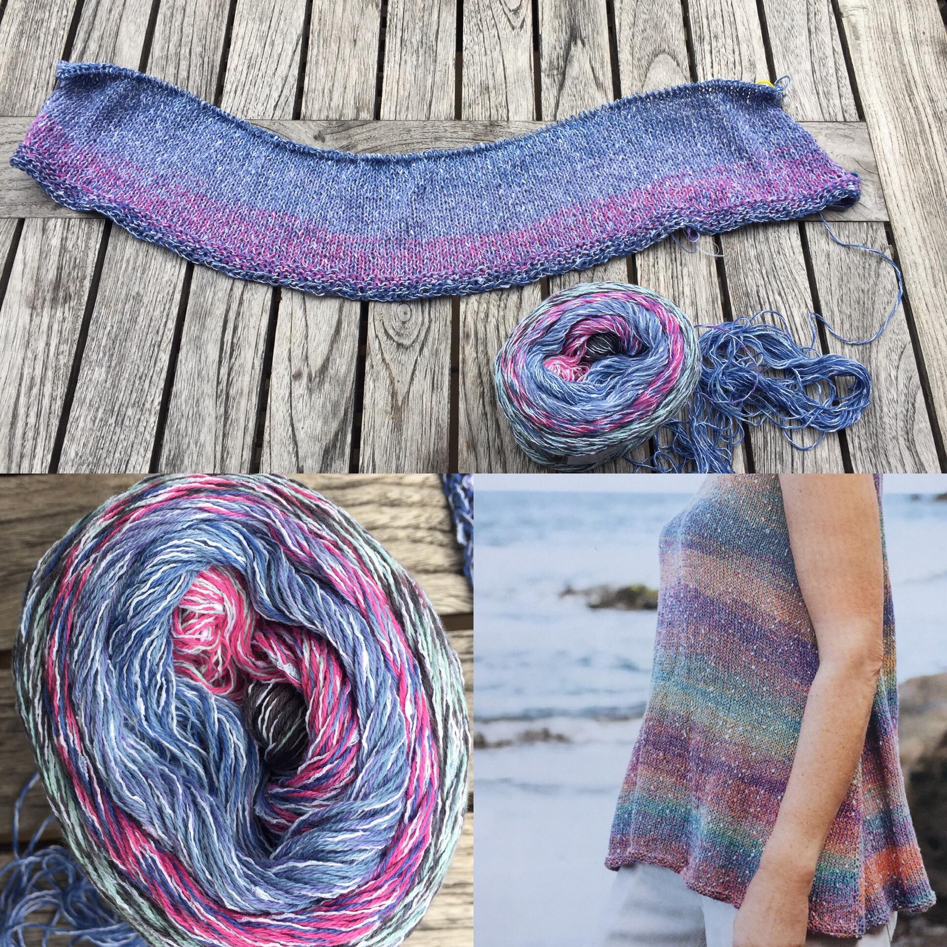 Sommerhemdchen aus Summer Tweed gestrickt – oder – Irgendwann kommt der Sommer, bestimmt!!