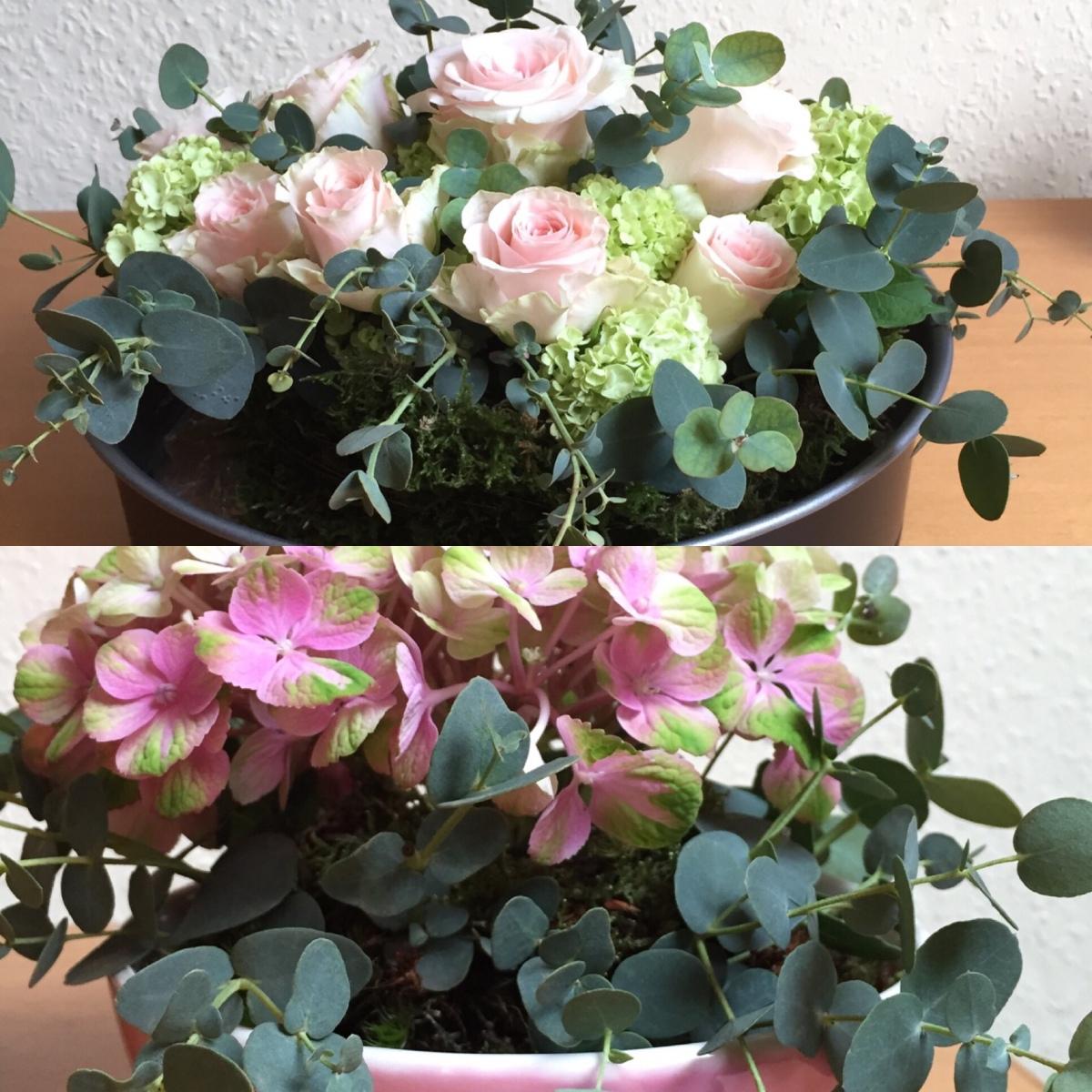 Friday-Flowerday - oder - Blumengestecke zum Behalten und Verschenken.