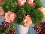 Friday-Flowerday – oder – Rosen und Nelken, eine guteMischung
