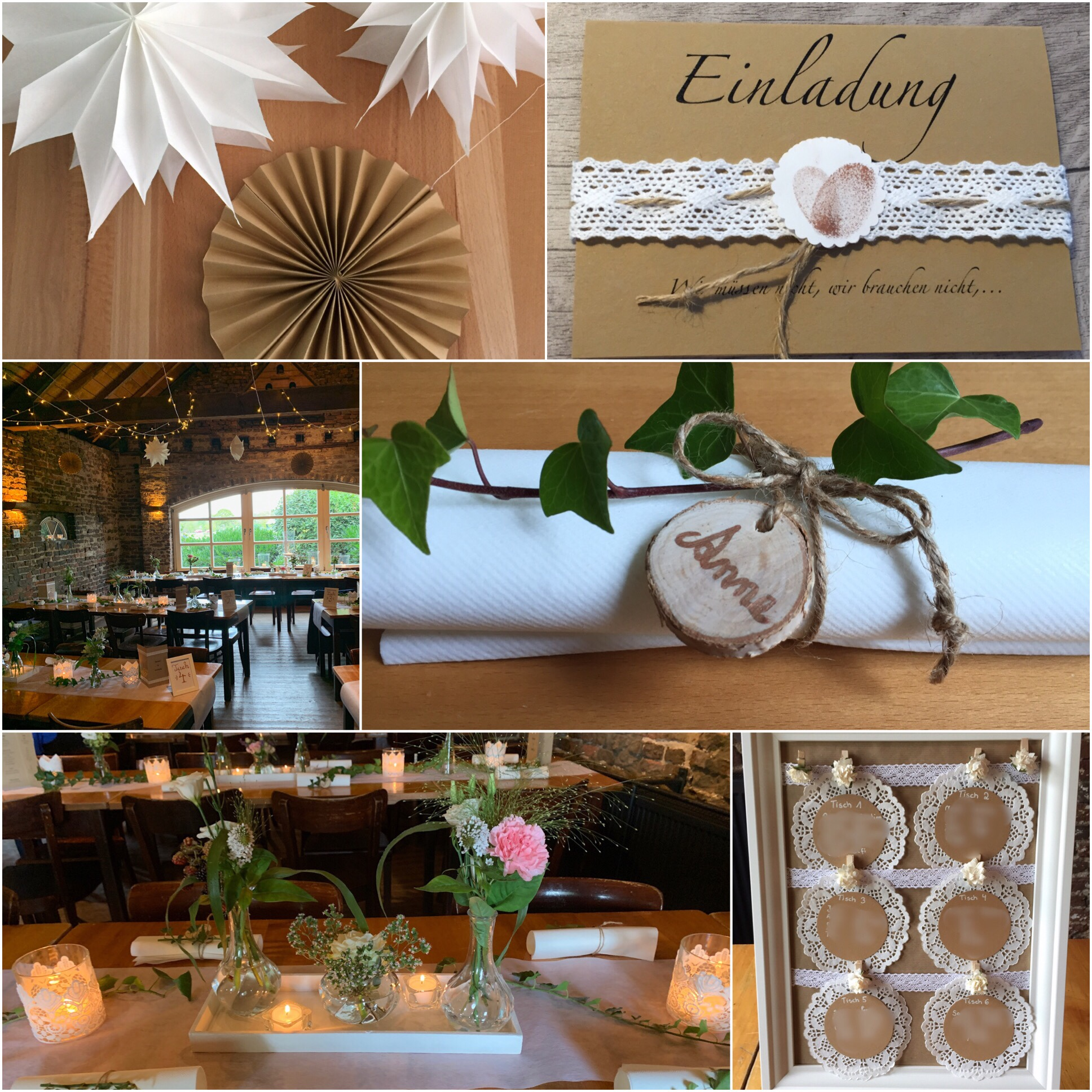 Ein schöner Tag – oder – DIY-Dekoration für die Hochzeit