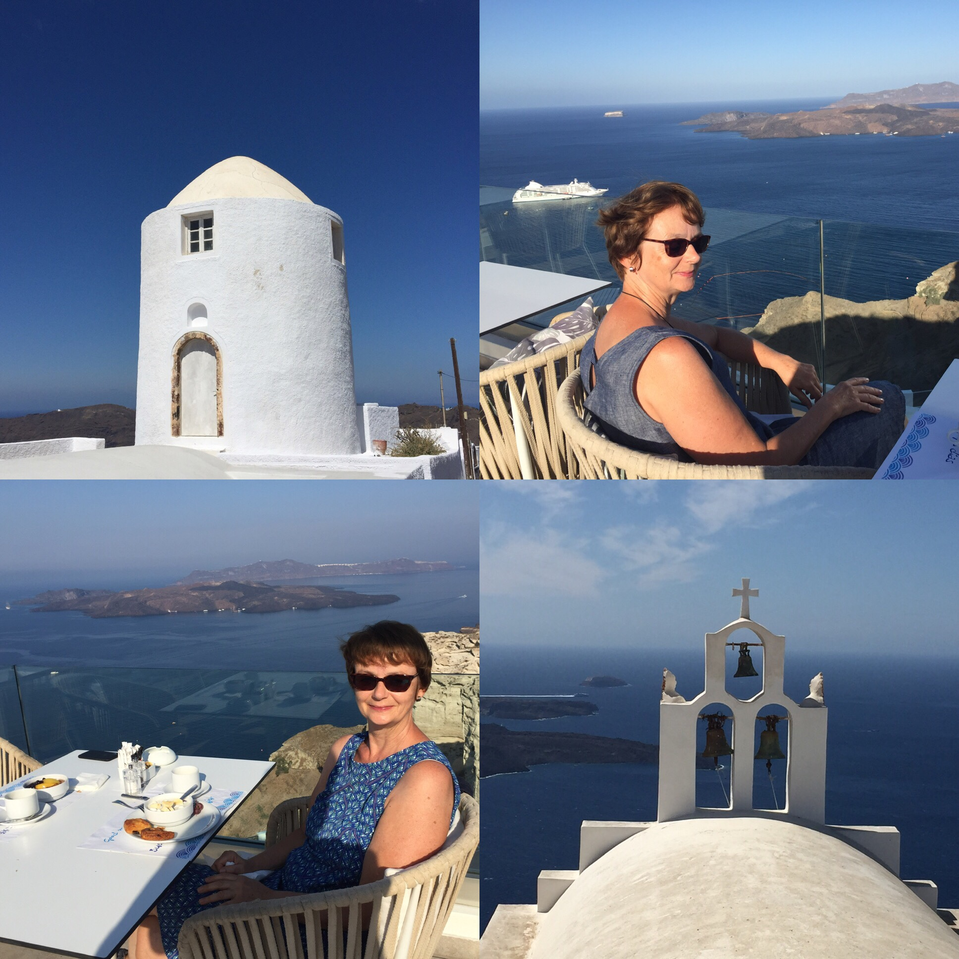 #Sonntagsglück – oder – Grüße von Santorini