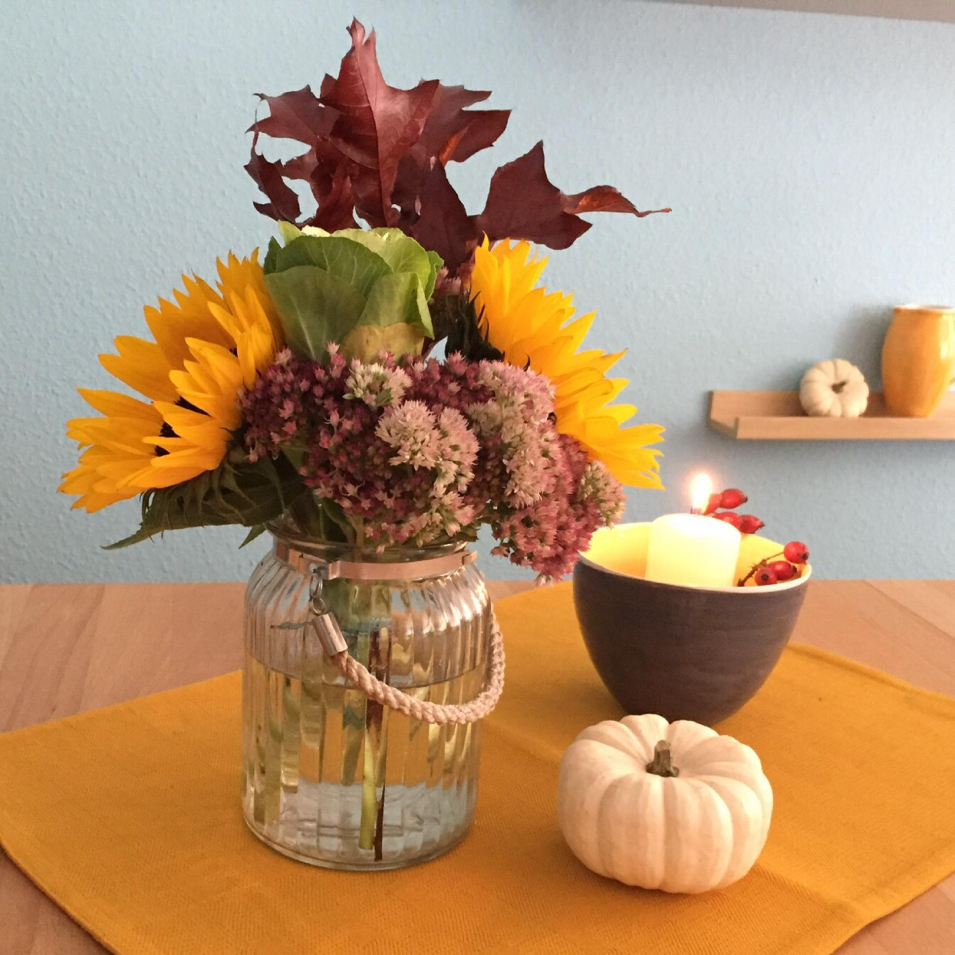 Friday-Flowerday – oder – Hallo Herbst