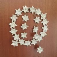 Weihnachtszeit bei Lilamalerie #3 - oder - Alte Bücher reloaded: Kranz aus gefalteten Sternen