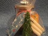 Weihnachtszeit bei Lilamalerie #17 – oder – Kleines Mitbringsel: Glas und Kerzenhalter ineinem