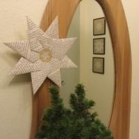Weihnachtszeit bei Lilamalerie #10 - oder - Noch mehr Sterne aus alten Buchseiten