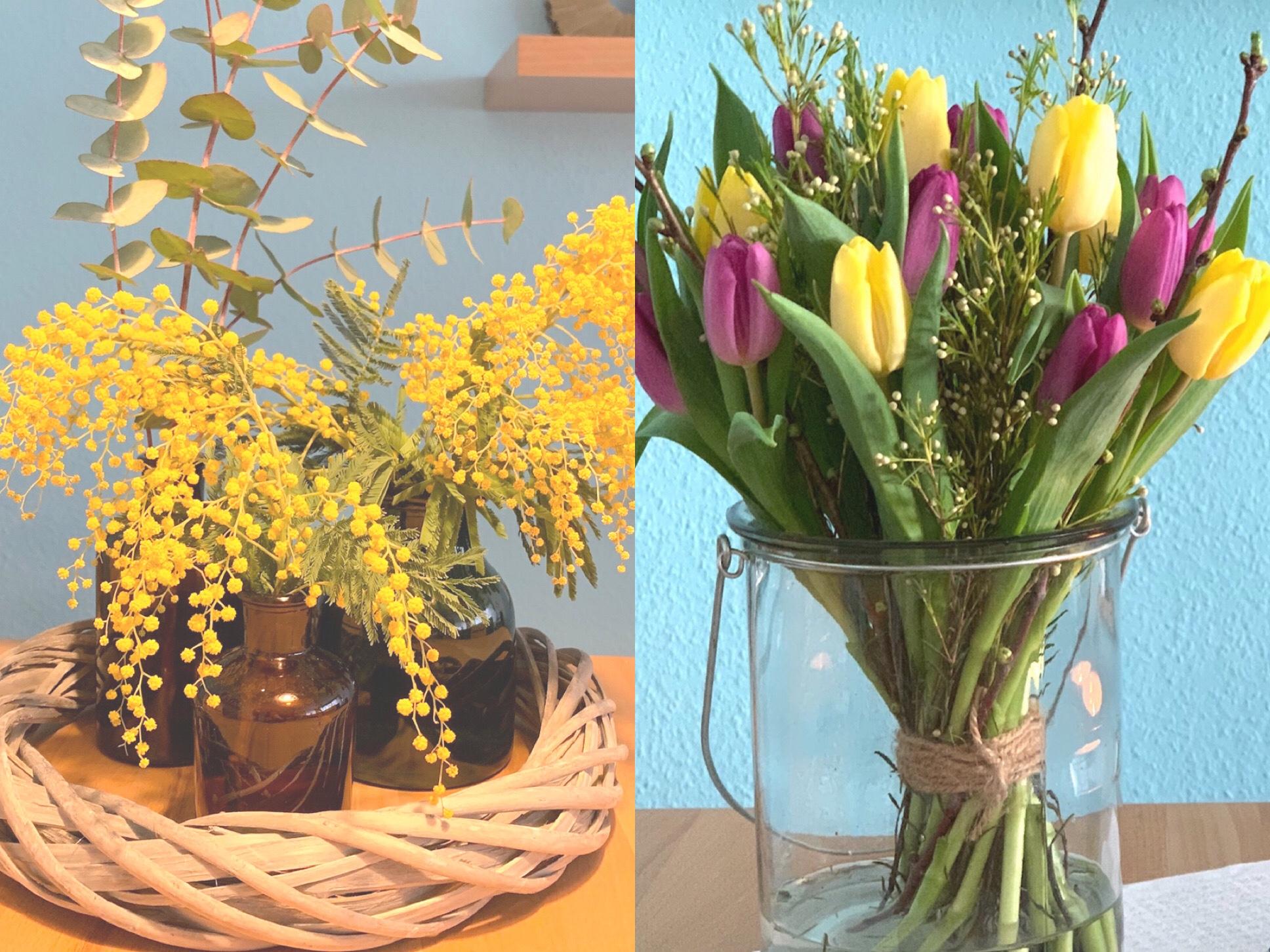 Friday-Flowerday – oder – Mimosig oder bunt