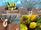 Friday-Flowerday – oder – Von Tulpen, Ranunkeln, Zweigen undSchäfchen