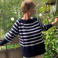 Pulli im Breton-Look - oder - Ahoi, auch ohne Meer