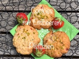 Sommerplätzchen – oder – Cookies mit Erdbeeren undPistazien