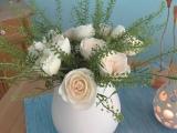 Friday-Flowerday – oder – Weiße Rosen aus….Santorini