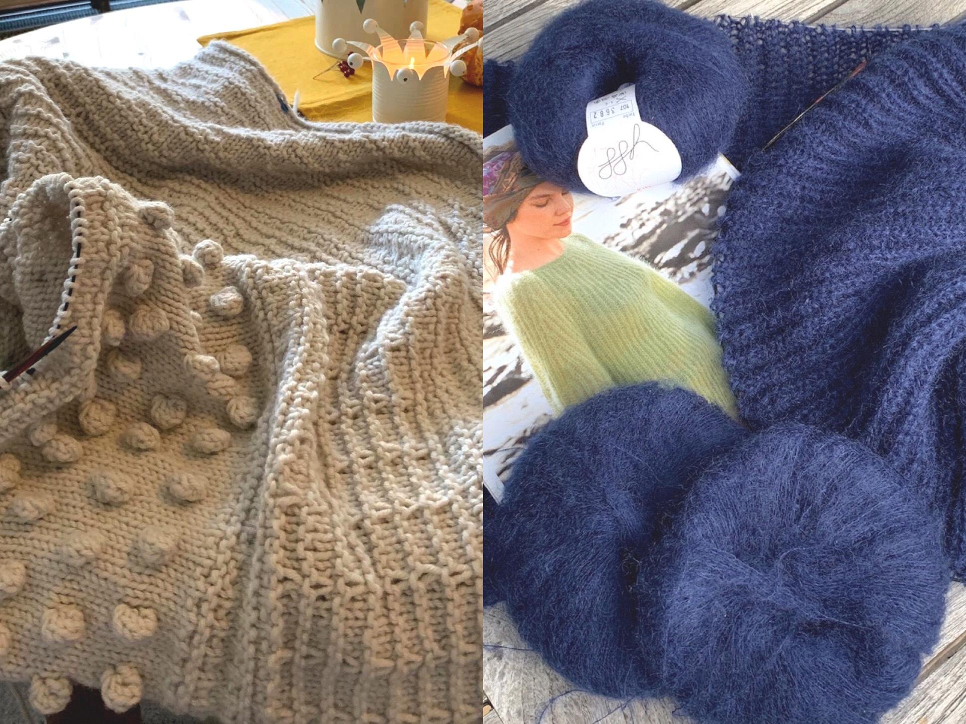 Stricken für die kalte Jahreszeit – oder – Patentpulli und Musterdecke