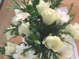 Friday-Flowerday – oder – Weiß mit einem TouchWeihnachtsgrün