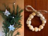 Decemberfeelings #7 : Perlen (und Sterne) für den Weihnachtsbaum – oder – Anhänger und Girlande ausPerlen