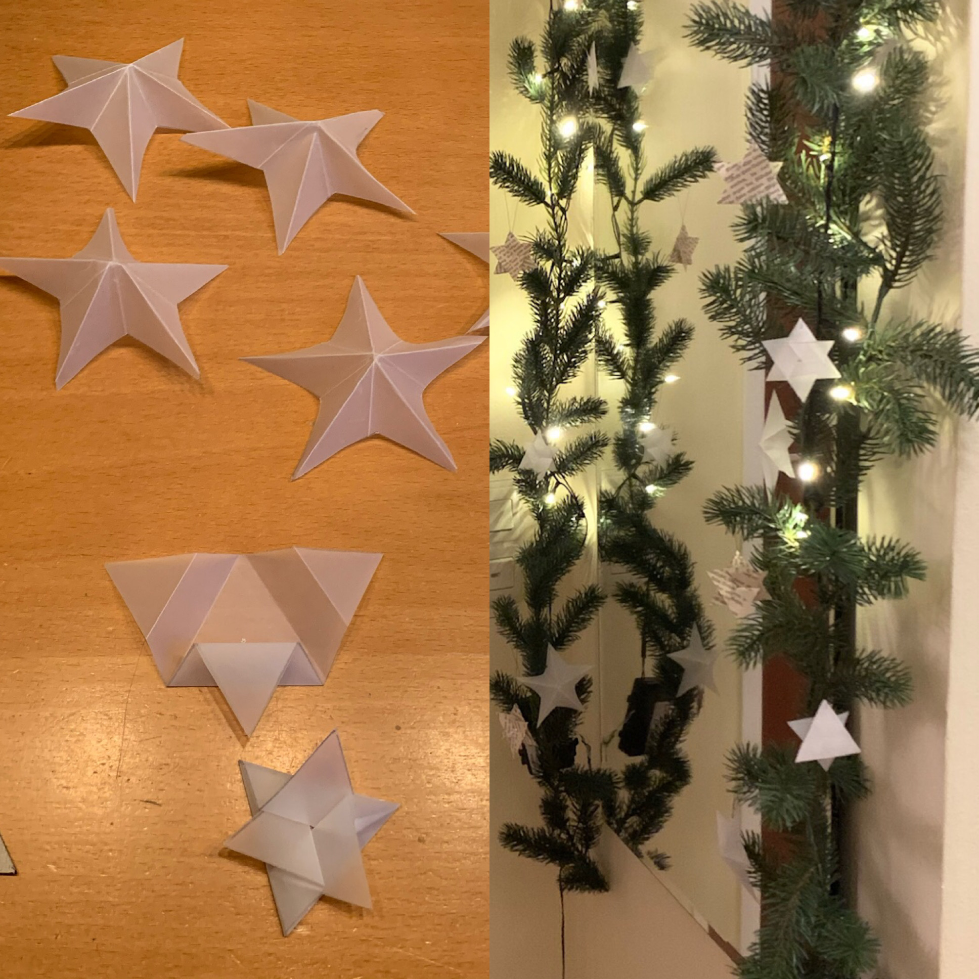Decemberfeeling #2 : 3D-Sterne und schnelle Dreiecksterne – Alle Jahre wieder