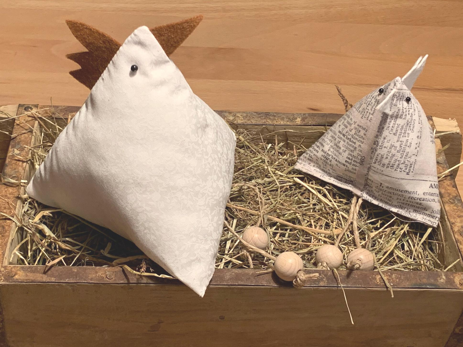 Ostercountdown … 5… – oder – Reloaded 2021: Dreieckige Hühner