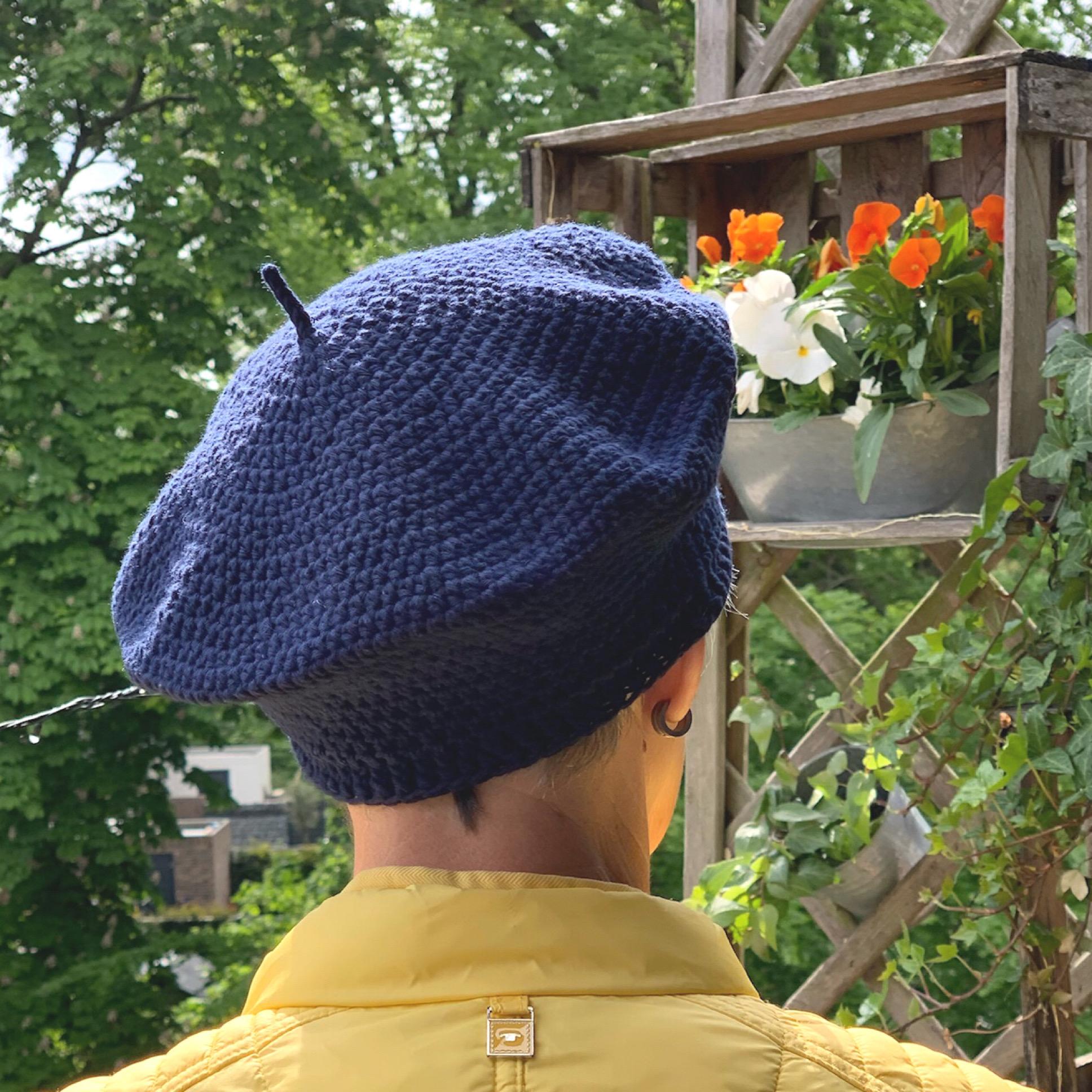Eine Baskenmütze kann man auch häkeln – oder – Eine Baske namens Sofie Béret