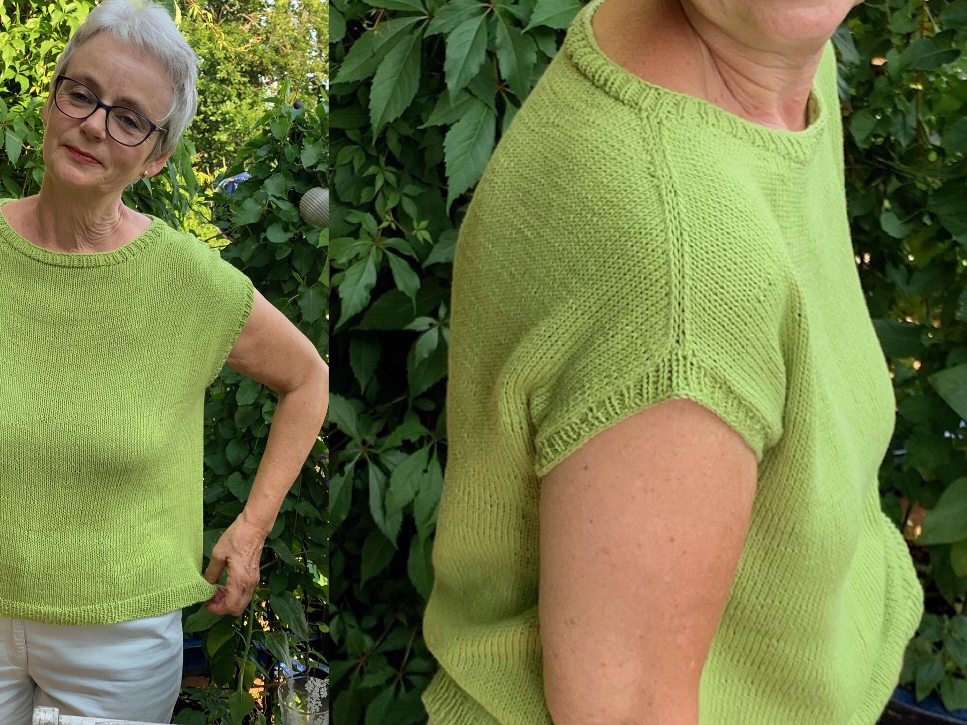 Sommerstrick: Leicht zu stricken, luftig zu tragen – oder – Basic-Shirt
