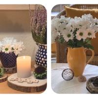 Friday-Flowerday - oder - Weiße Chrysanthemen mal zwei