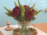 Friday-Flowerday – oder – Herbstlich inDunkelrot