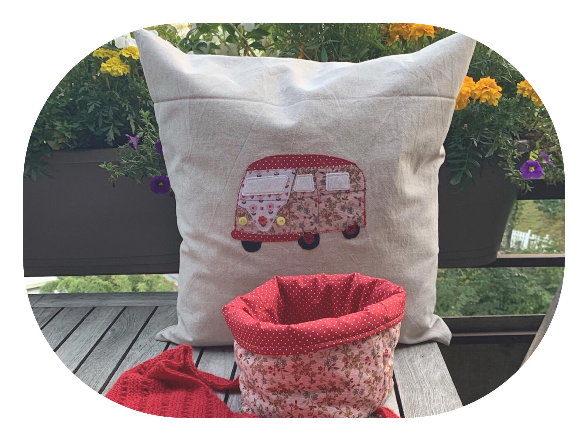 Verschenkt: Genähtes für das Campmobil – oder – Kissen und Utensilo für unterwegs