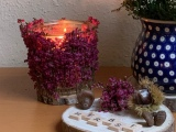 Immer wieder schön: Erika im Kerzenschein – oder – LeuchtenderHerbst